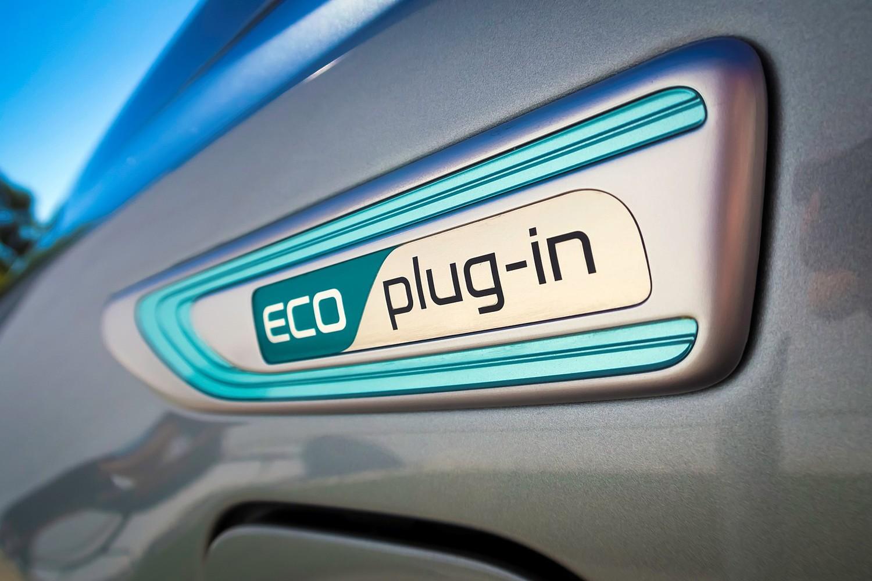 Kia Optima Plug-In Hybrid EX Sedan Front Badge (2017 model year shown)