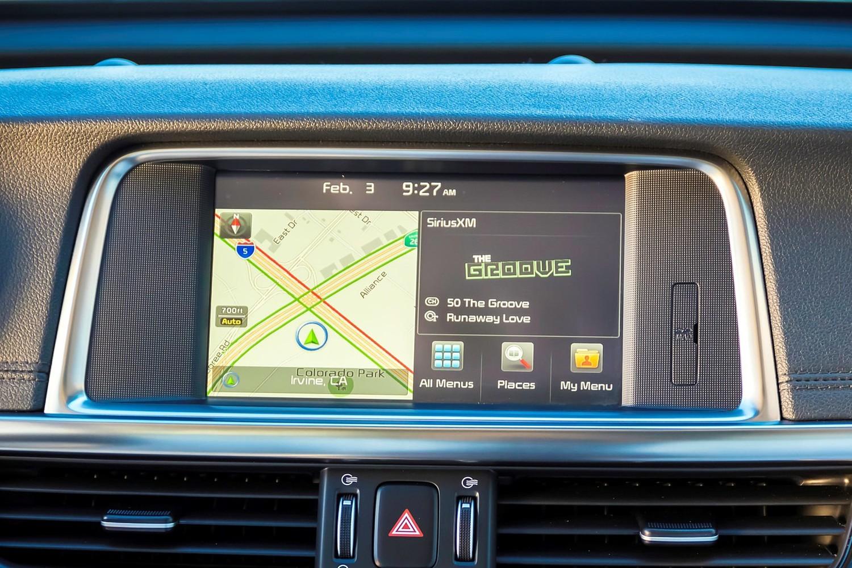 Kia Optima Plug-In Hybrid EX Sedan Navigation System (2017 model year shown)