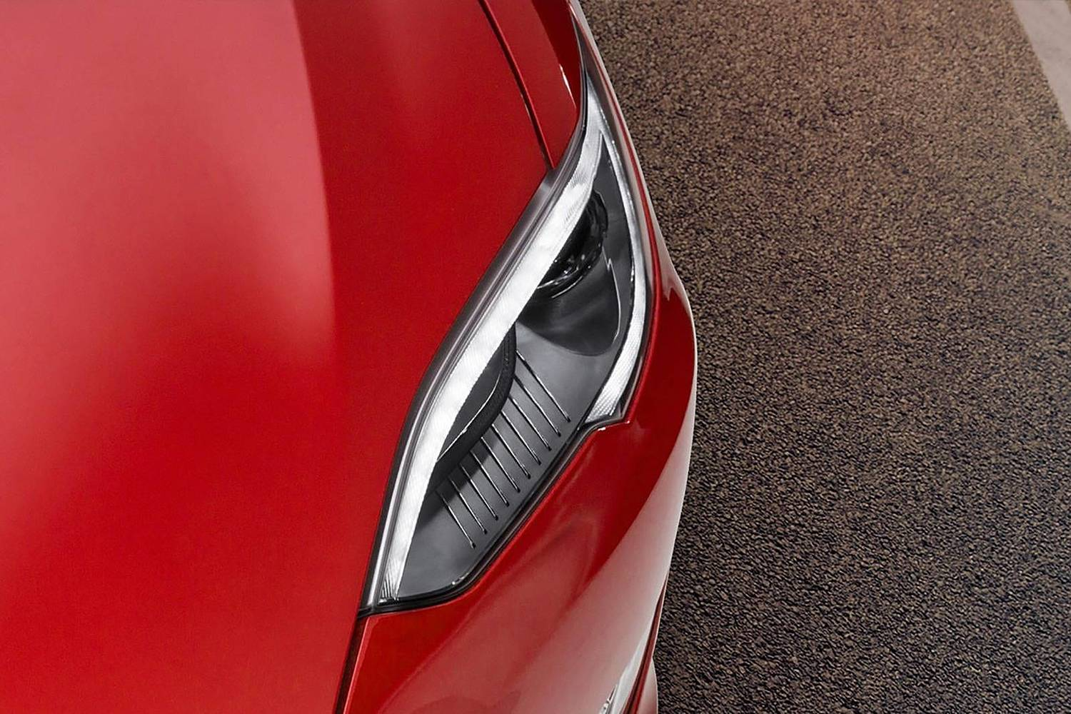 2017 Tesla Model S P100D Sedan Headlamp Detail