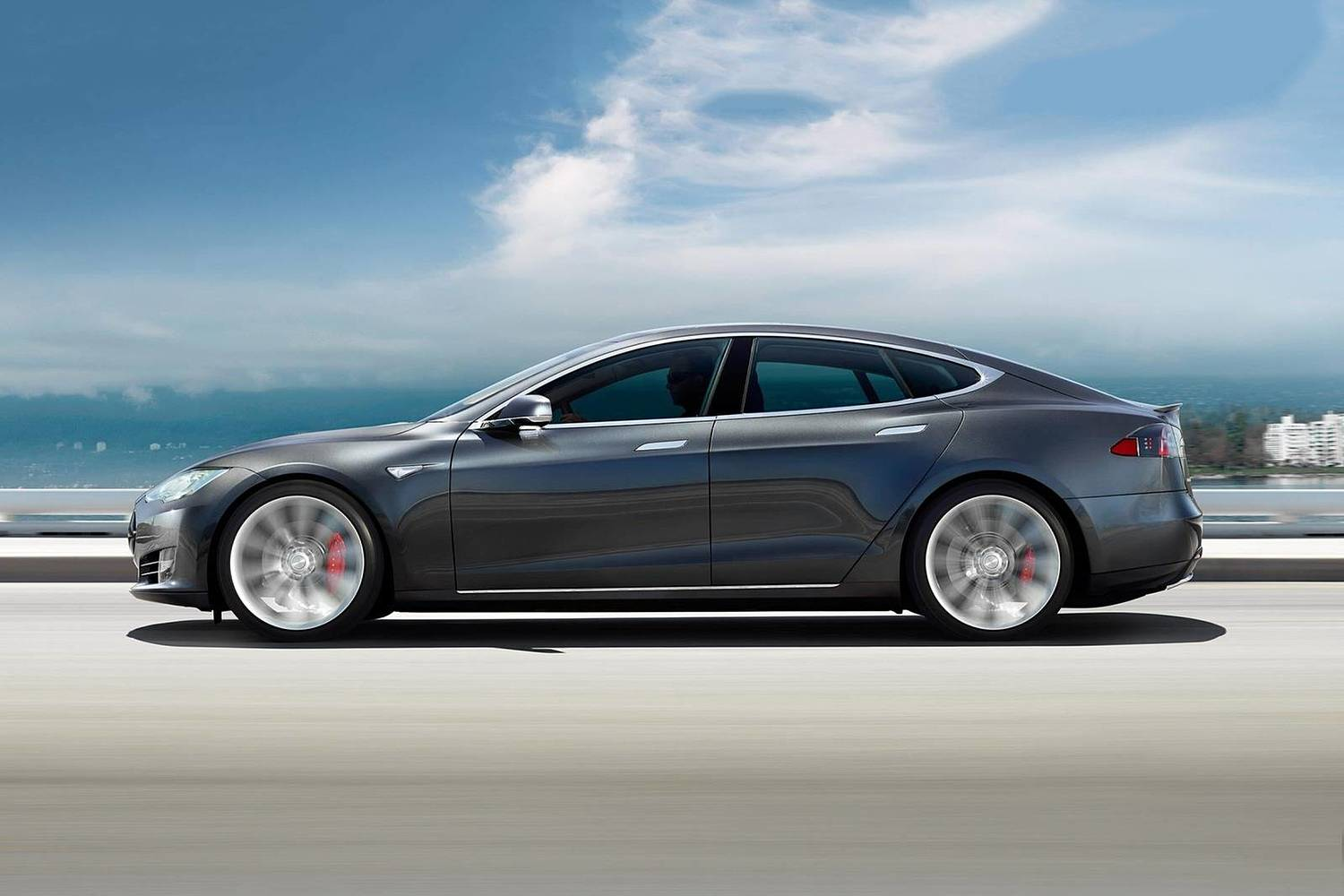 2017 Tesla Model S P100D Sedan Exterior Shown.