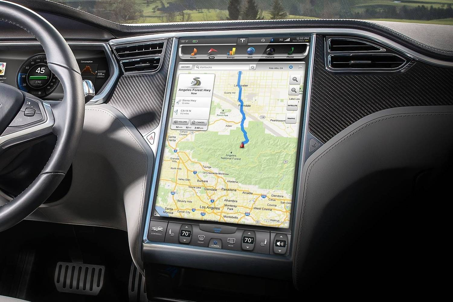 2017 Tesla Model S P100D Sedan Navigation System