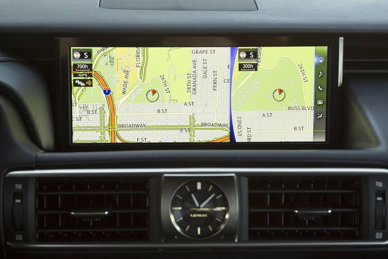 Lexus IS 350 Sedan Navigation System. Navigation Package Shown. (2017 model year shown)