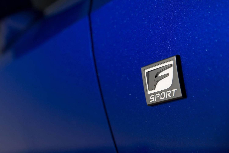 Lexus IS 350 Sedan Front Badge. F SPORT Package Shown. (2017 model year shown)