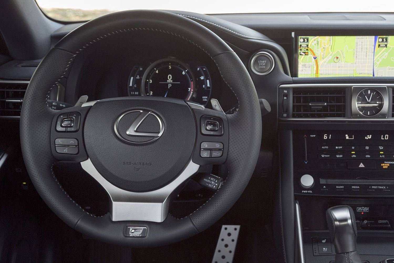 Lexus IS 350 Sedan Steering Wheel Detail. F SPORT Package Shown. (2017 model year shown)