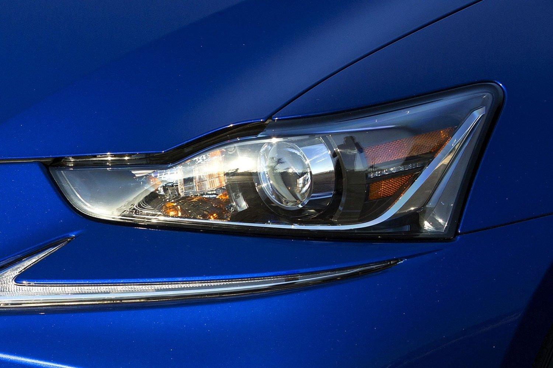 Lexus IS 350 Sedan Headlamp Detail. F SPORT Package Shown. (2017 model year shown)