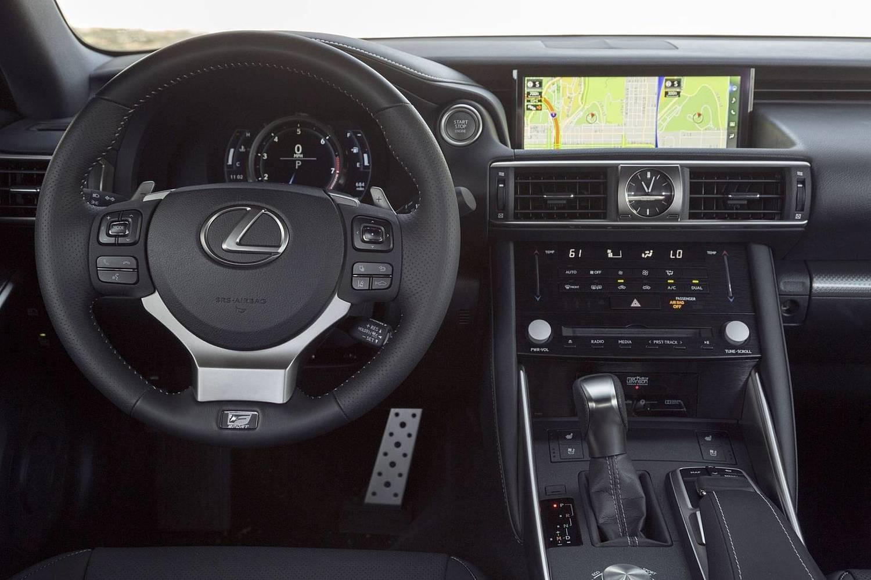 Lexus IS 300 Sedan Dashboard. F SPORT Package Shown. (2017 model year shown)