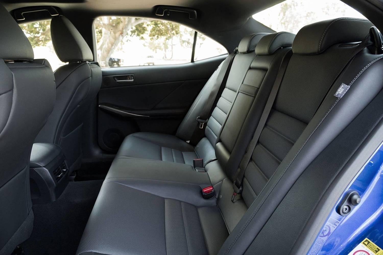 Lexus IS 300 Sedan Rear Interior. F SPORT Package Shown. (2017 model year shown)