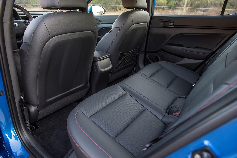 2017 Hyundai Elantra Sport Sedan Rear Interior