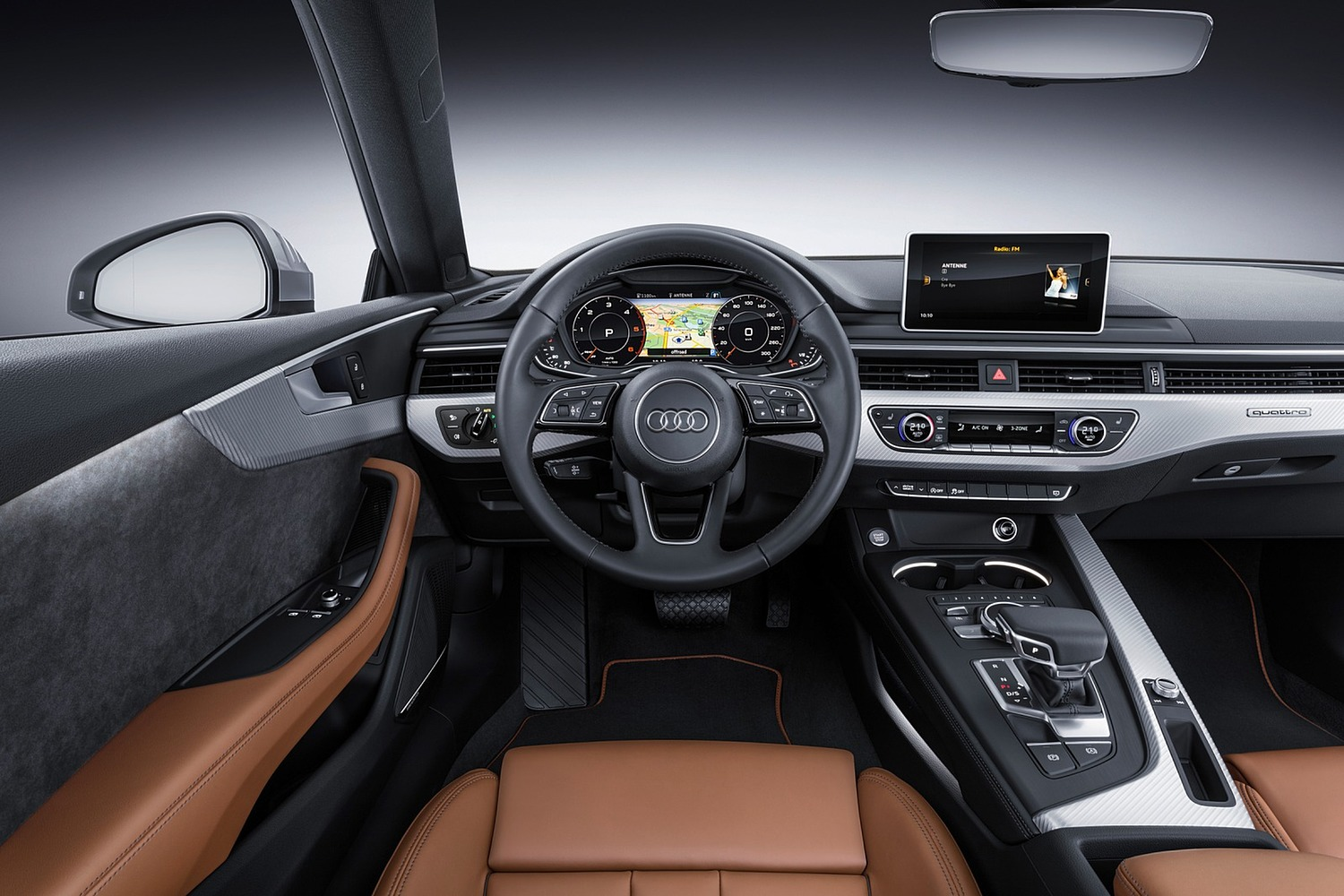 2018 Audi A5 Prestige quattro Coupe Steering Wheel Detail