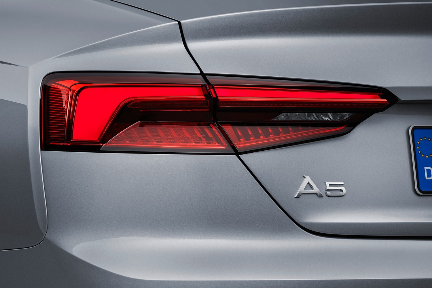 2018 Audi A5 Prestige quattro Coupe Rear Badge. European Model Shown.