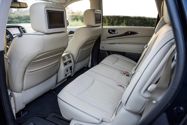 INFINITI QX60 4dr SUV Rear Interior (2017 model year shown)