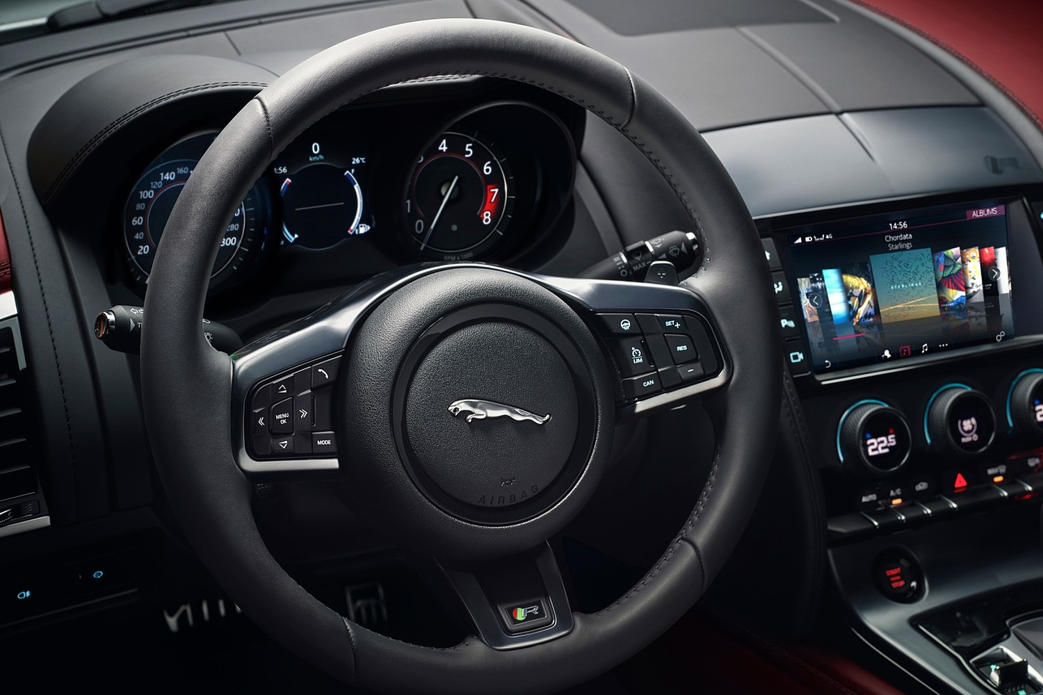 2018 Jaguar F-TYPE R Coupe Steering Wheel Detail
