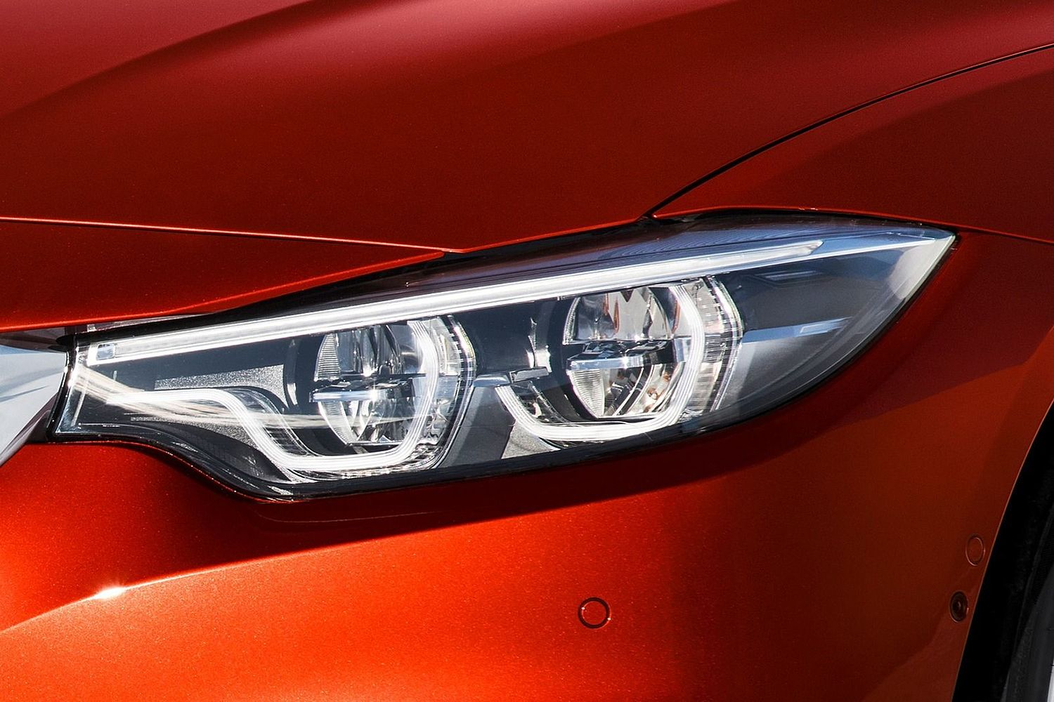 2018 BMW 4 Series 430i SULEV Convertible Headlamp Detail. Executive Package Shown.