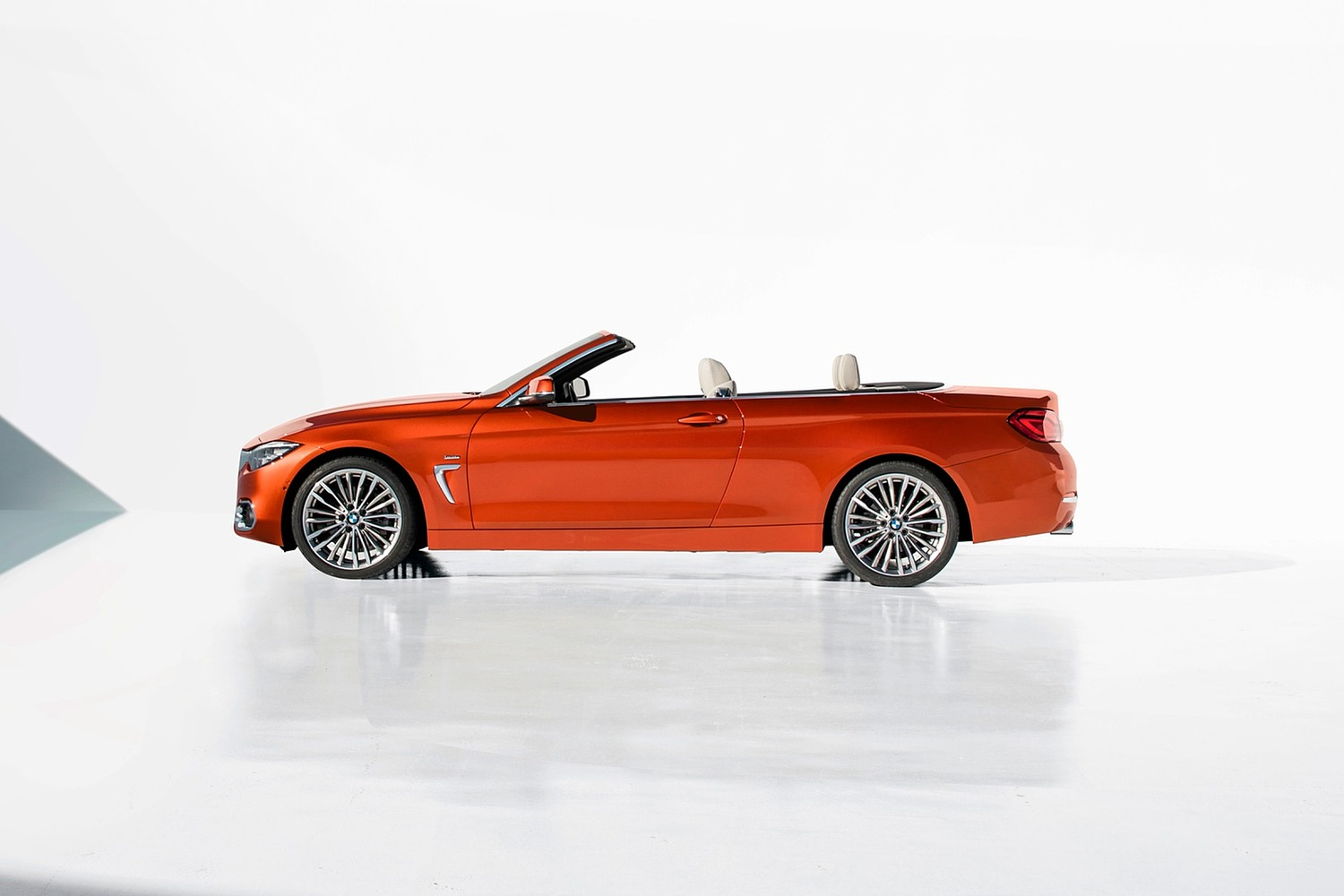 2018 BMW 4 Series 430i SULEV Convertible Exterior. European Model with Executive Package Shown.