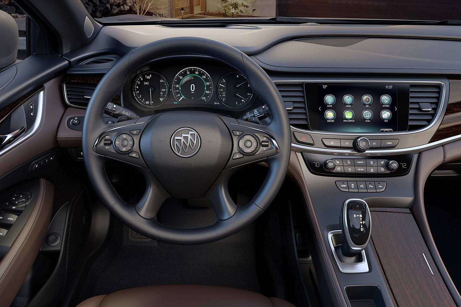 2018 Buick LaCrosse Premium Sedan Steering Wheel Detail