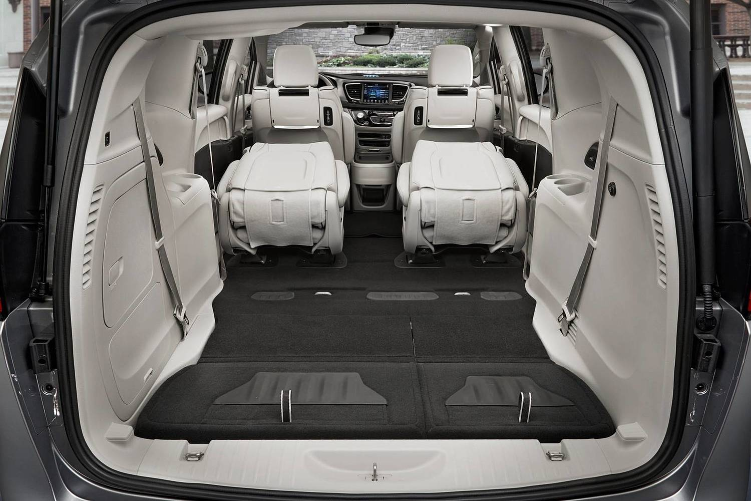 2018 Chrysler Pacifica Hybrid Touring Plus Passenger Minivan Rear Seats Down Shown