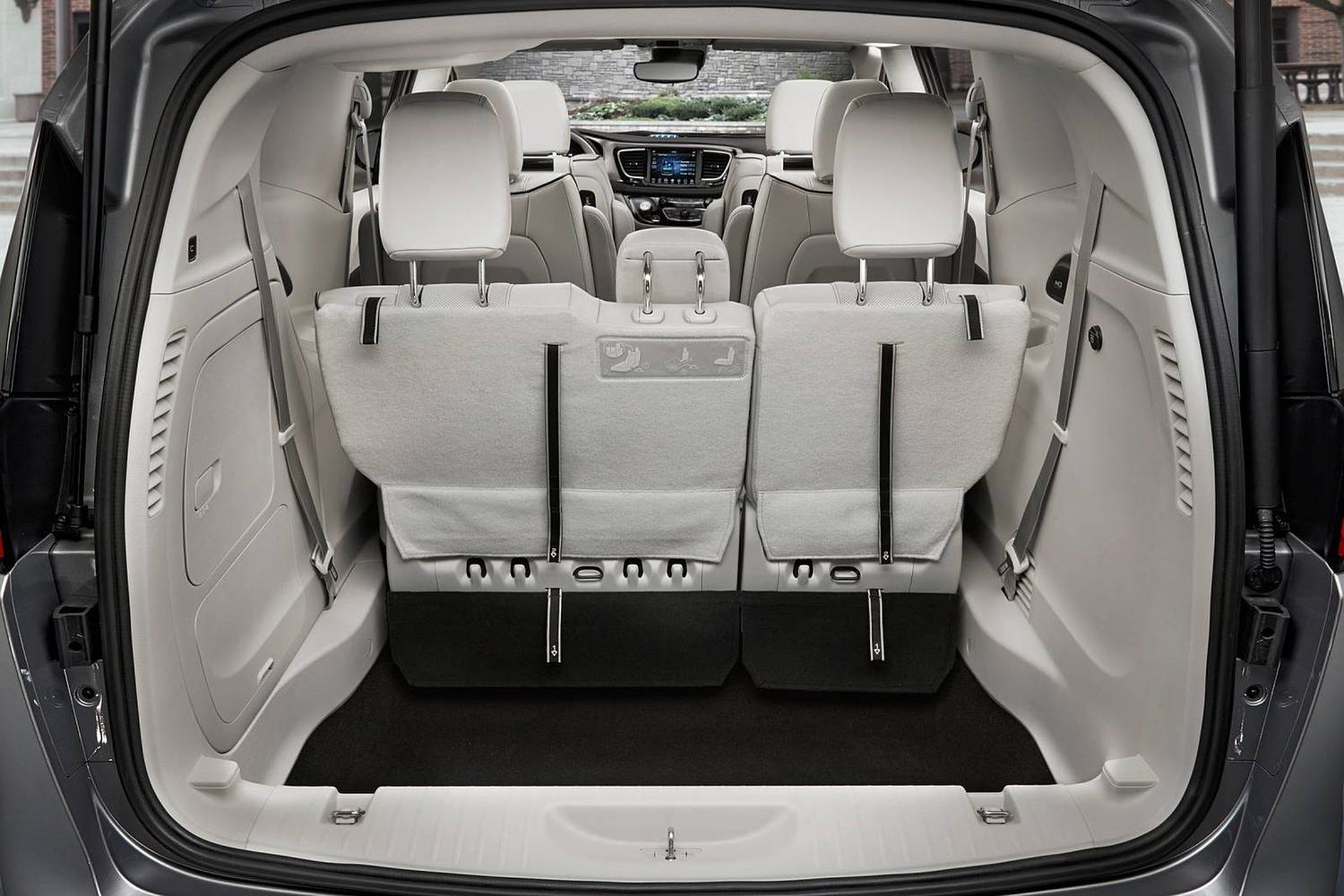 2018 Chrysler Pacifica Hybrid Touring Plus Passenger Minivan Cargo Area Shown