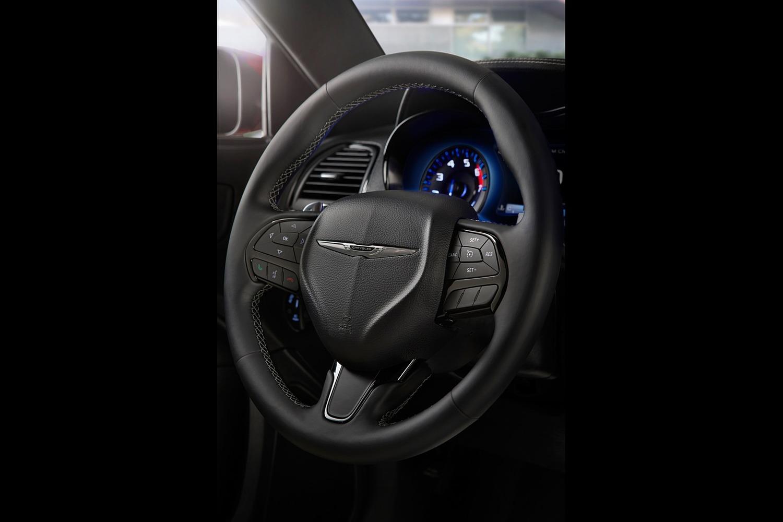 Chrysler 300 S Sedan Steering Wheel Detail. S Model Appearance Package Shown
