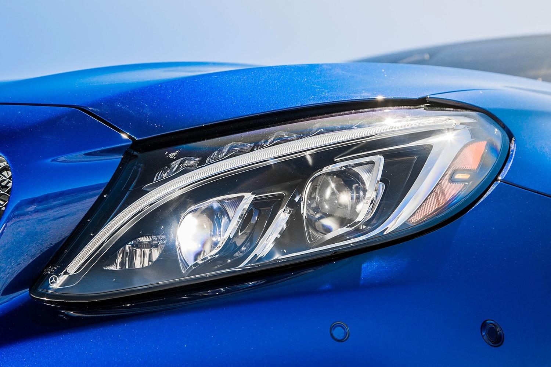 2018 Mercedes-Benz C-Class AMG C 63 S Coupe Headlamp Detail