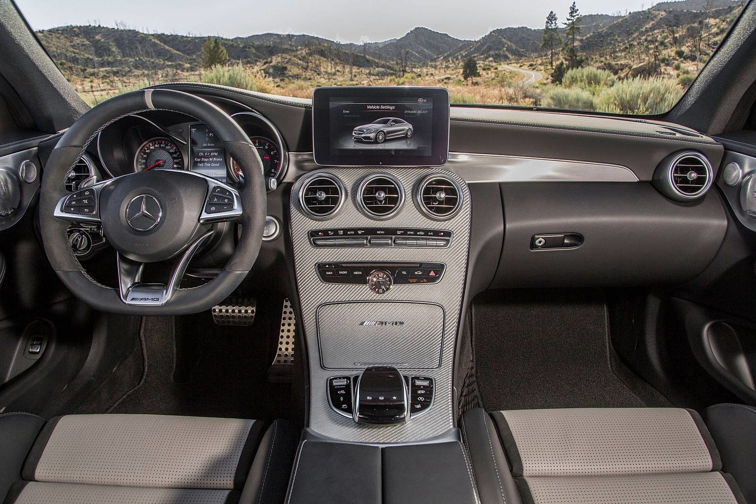2018 Mercedes-Benz C-Class AMG C 63 S Coupe Dashboard Shown