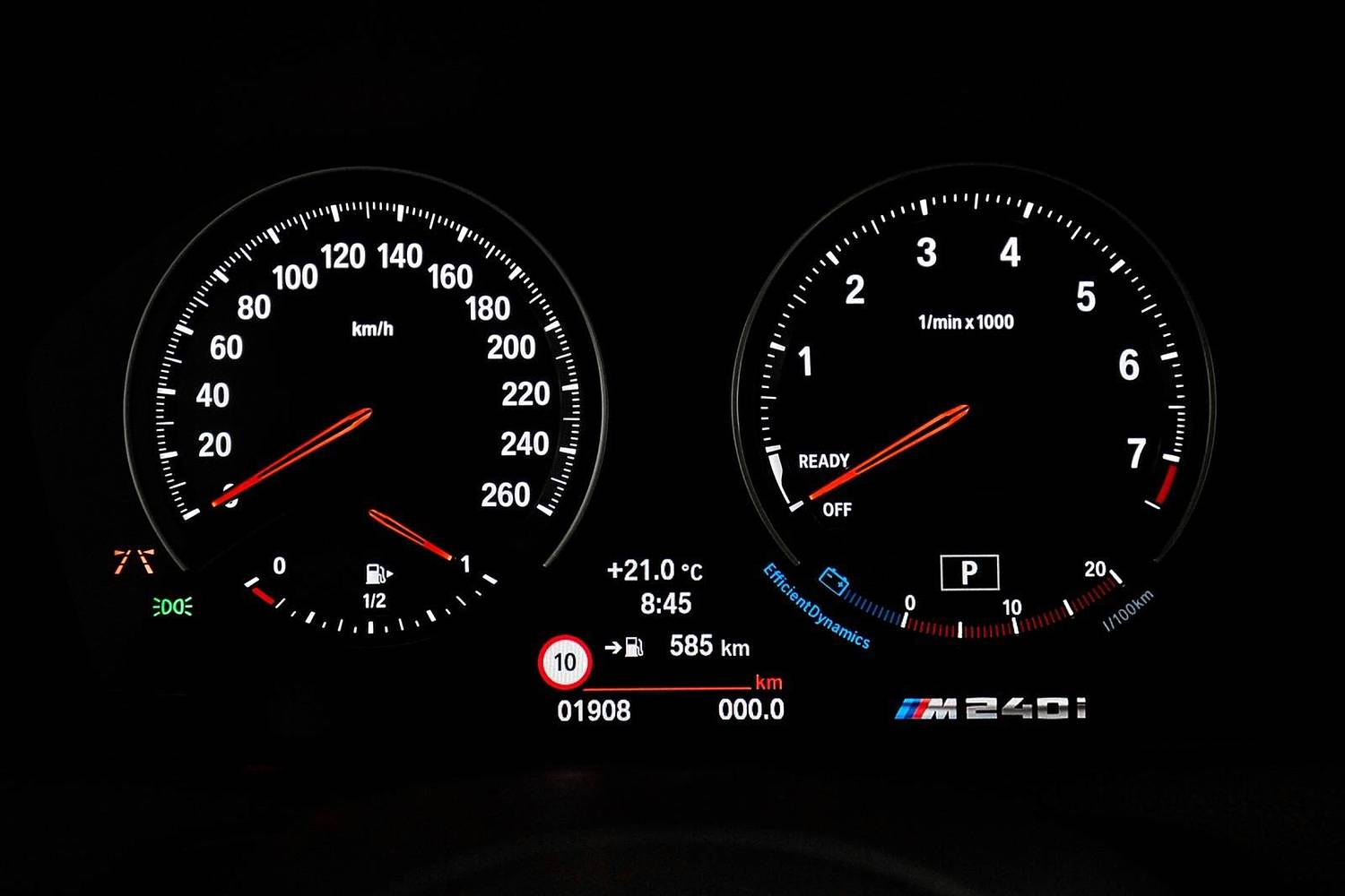 2018 BMW 2 Series M240i xDrive Coupe Gauge Cluster