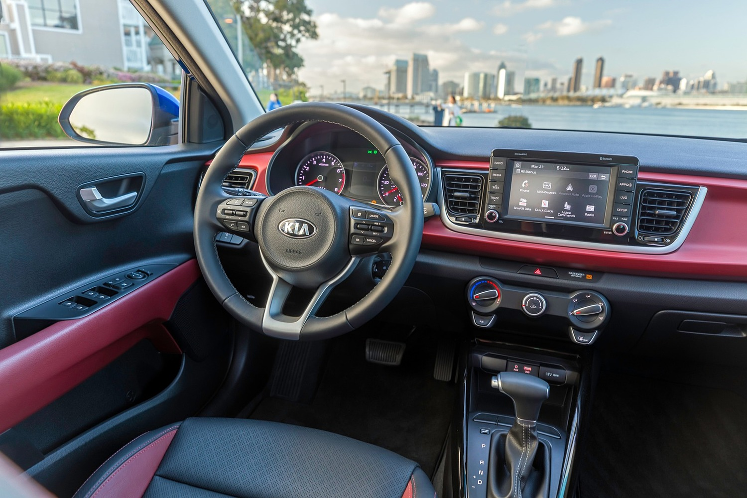 2018 Kia Rio EX Sedan Steering Wheel Detail