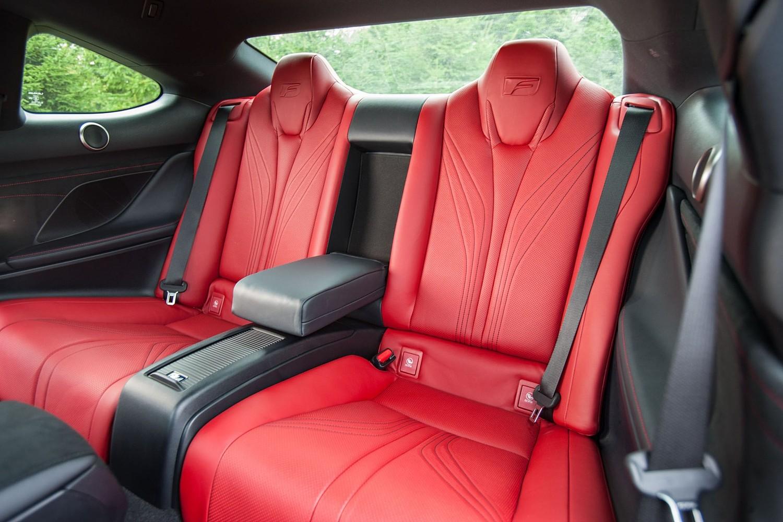 2018 Lexus RC F Coupe Rear Interior