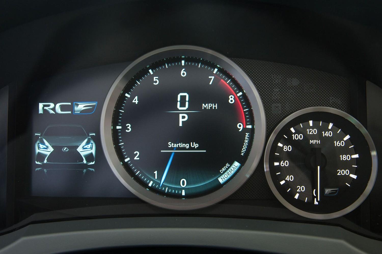 2018 Lexus RC F Coupe Gauge Cluster