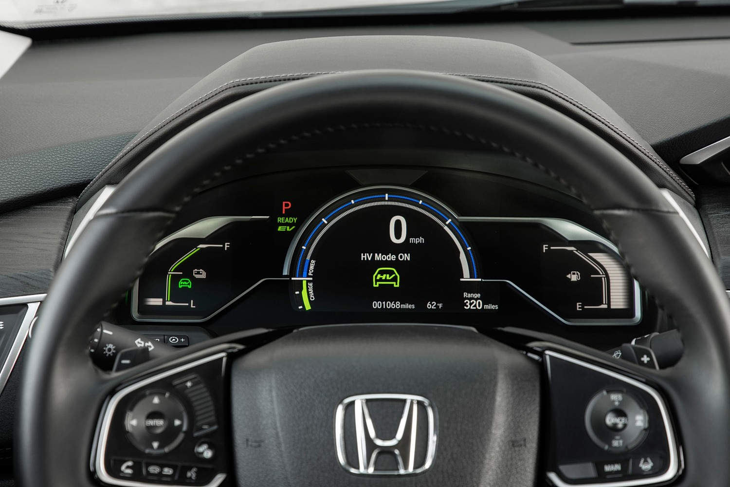 2018 Honda Clarity Touring Plug-In Hybrid Sedan Gauge Cluster