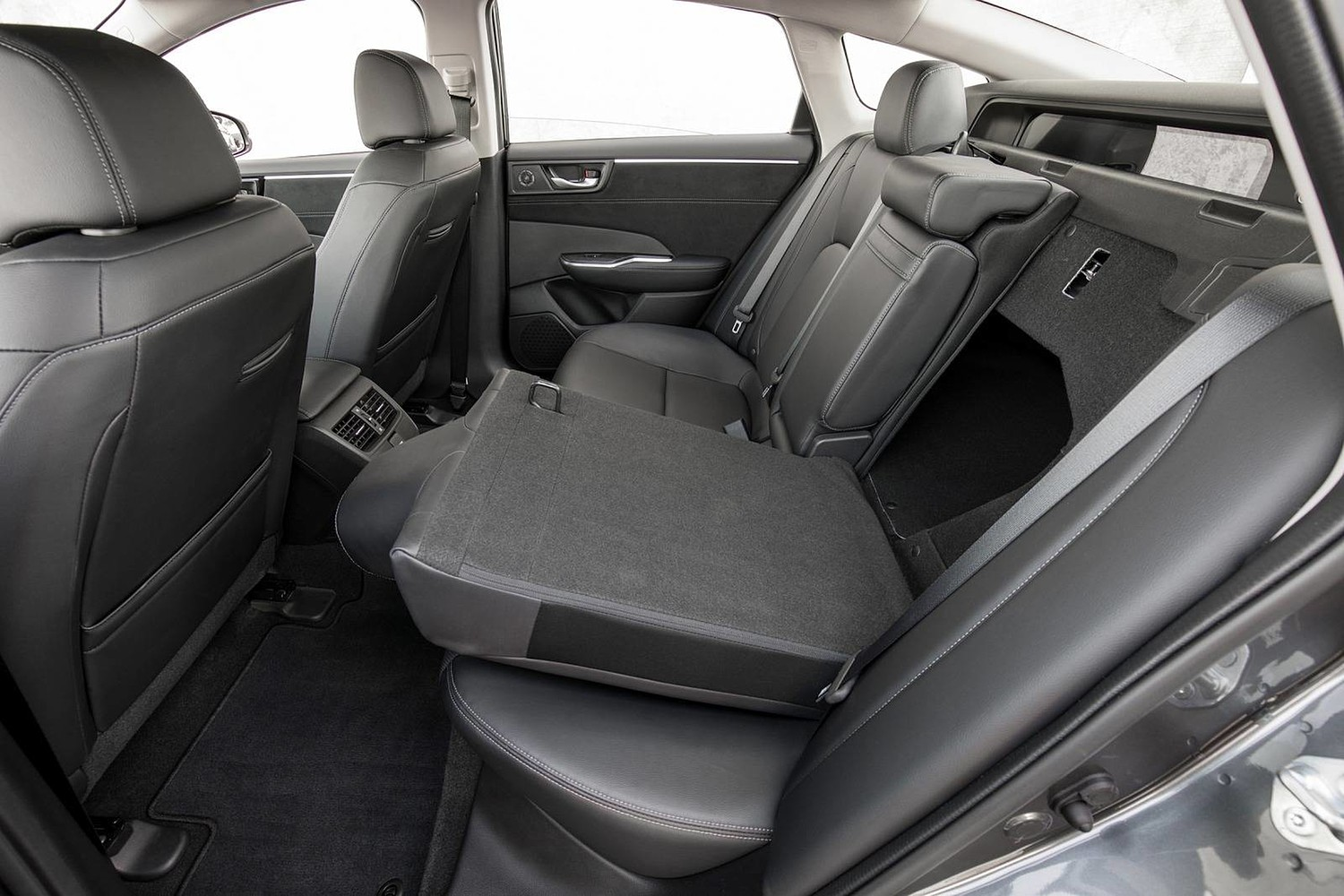 2018 Honda Clarity Touring Plug-In Hybrid Sedan Rear Seats Down