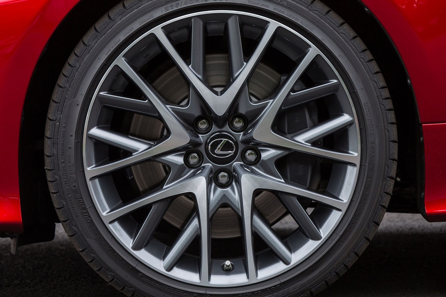 Lexus RC 350 Coupe Wheel. F-Sport Package Shown.