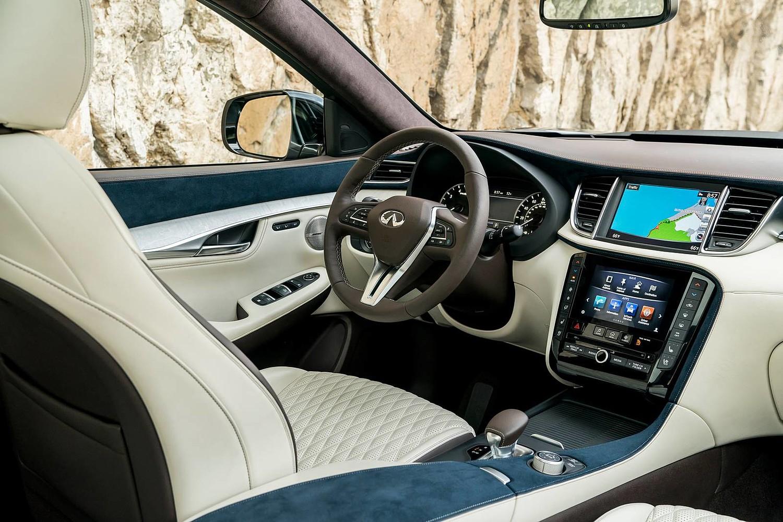 2019 INFINITI QX50 ESSENTIAL 4dr SUV Steering Wheel Detail. Options Shown.