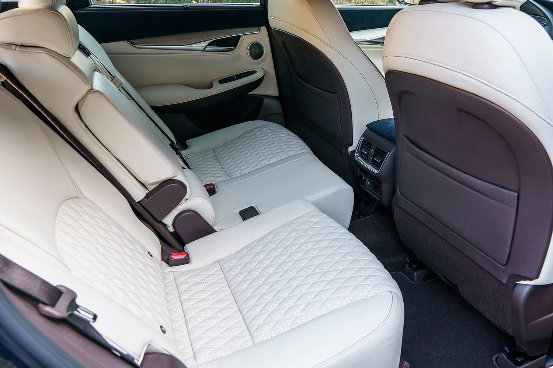 2019 INFINITI QX50 ESSENTIAL 4dr SUV Rear Interior. Options Shown.