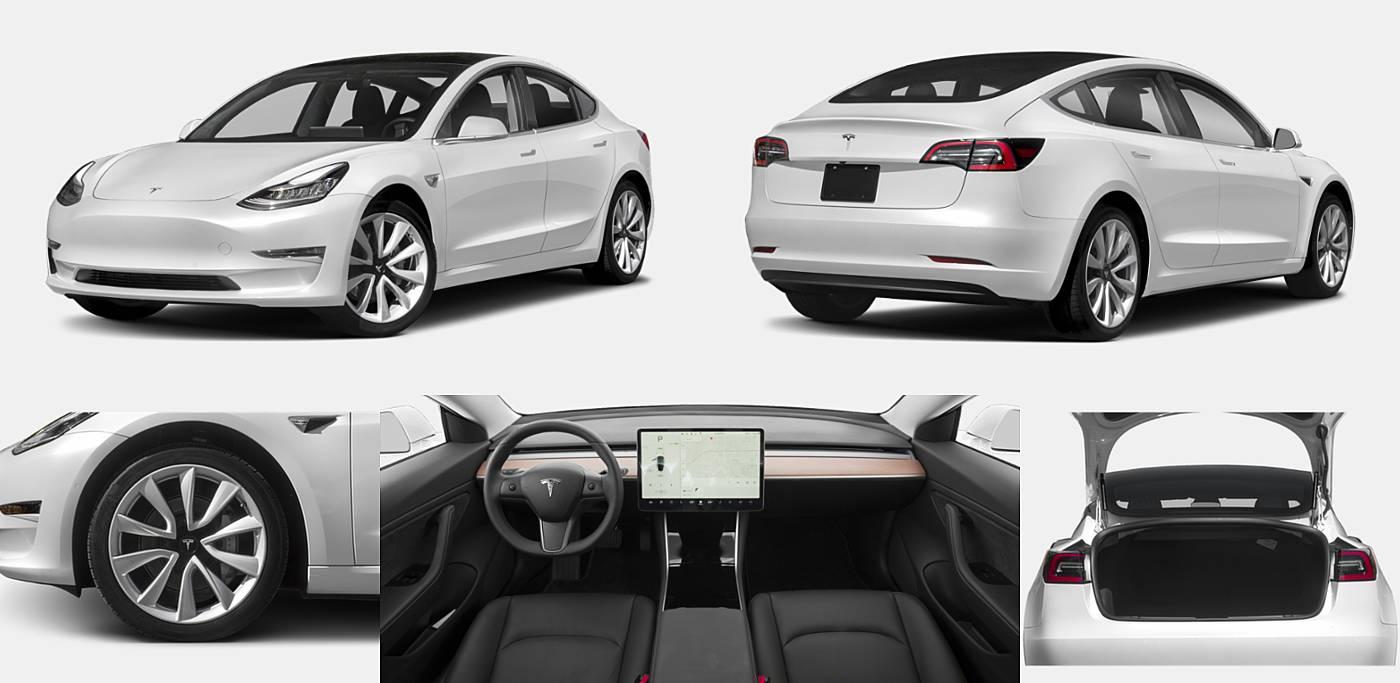 2019 Tesla Model 3 Long Range Battery AWD / Mid Range Battery RWD / Performance